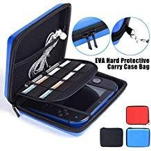 LinkStyle Nintendo 2DS Fall mit Spiel Reise, Nintendo 2DS Hard Eva mit Schutzhülle Tasche Schutz Aufbewahrung Storage Cover Pouch mit 8Spiel Halter Doppelreißverschluss für Nintendo 2DS (Blau)