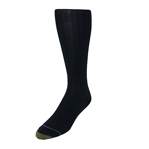 Gold Toe Men's Mercerized Cotton Over the Calf Dress Socks (Pack of 3), Shoe Size 6-12 1/2