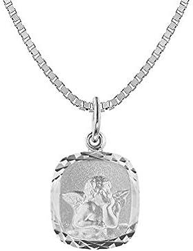 trendor Silber-Halskette mit Engel-Anhänger für Mädchen 73372