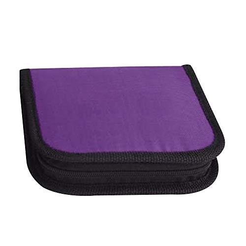 sbeutel Tragbare Reise Notfall Nähzeug Box Aufbewahrungskoffer Nadelfäden Maßnahme Schere Fingerhut Home Tools Zubehör Reißverschlusstasche für Zuhause (Color : Purple) ()