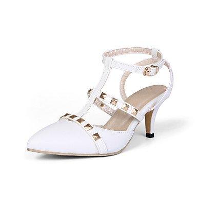 CH&TOU Da donnaFormale-A punta-A stiletto-Finta pelle-Nero / Rosa / Bianco White