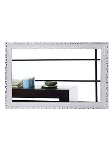 Europäische Badezimmer Spiegel Bad Wand Dressing Wandbehang Wasserdicht Wash Kosmetikspiegel Bad Spiegel Bad mit Rahmen Spiegel (Hot Silber auf Weiß) (größe : 50cm*70cm) -