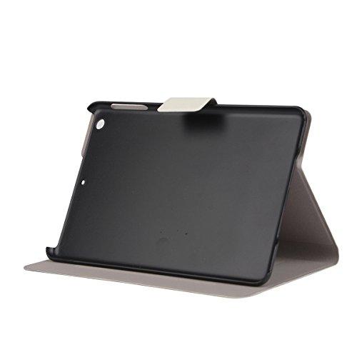 iPad Mini 3 étui à Rabat avec Support,iPad Mini 2 Housse,Ekakashop Dessin Animé Motif Fille Umbrella PU Cuir Protecteur Shell Case Tablette Couverture Protective Covers Case avec Magnétique PU Clapet  Paon Maison