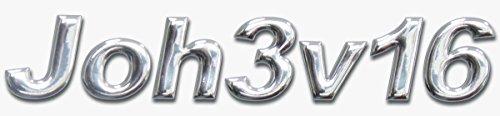 """°° 3D-Aufkleber """"Joh3v16"""", ca. 10cm breit, freistehend/ erhaben"""