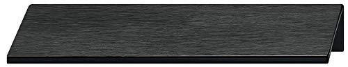 Gedotec Möbelgriff Küche Kantengriff Schubladengriff - PALMA | Aluminium schwarz eloxiert | Schrank-Griff Länge 40 mm | Türgriff für rückseitige Verschraubung | 1 Stück - Griffleiste Alu mit Schrauben