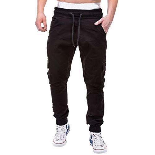 ZARLLE_Pantalones PantalóN Largo Brillante para Hombre, Largos Cargo para Hombre, MúLtiples Bolsillos,Laborales,Casuales,Recto,Suelto