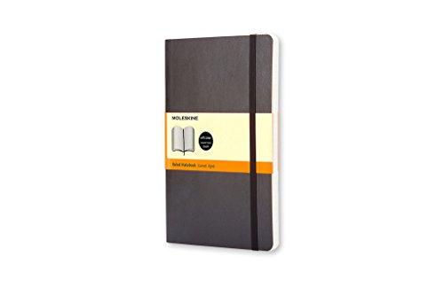 Moleskine Taccuino Notebook Classic, Tascabile, Copertina Morbida, a Quadretti, Nero