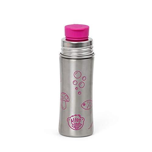 Affenzahn Trinkflasche aus Edelstahl (330ml) bpa-frei für Jungen und Mädchen im Kindergarten und Kita - Lila