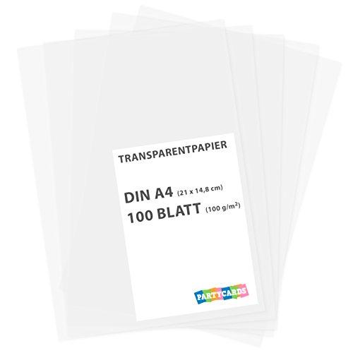 Foto de 100 hojas de papel transparente papier caracteres DIN A4 100 gr/m2 Manualidades Papel Scrapbooking DIY gitano tarjetas boda invitación
