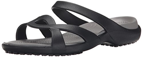 Crocs Meleen Twist, Ciabatte Donna, Nero (Black/Smoke), 39/40 EU