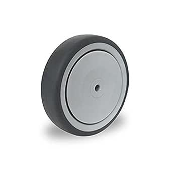 1 R/äder Rollen Kunststoffrad Gummirad Transportrad Apparaterollenrad Grau /Ø 75mm