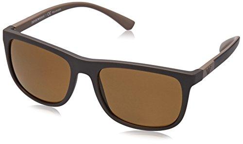 EMPORIO ARMANI Herren Sonnenbrille 0EA4079, Braun (Matte Brown), 57