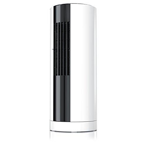 brandson–Mini Säulenventilator/Tischventilator,   Mini tower-fan  mit Function Oszillation 30°   3Geschwindigkeitsstufen (Low/Medium/High) +-Funktion Schaltverzögerung   Filter Staubschutz   weiß/schwarz (Filter Honeywell Air 4)