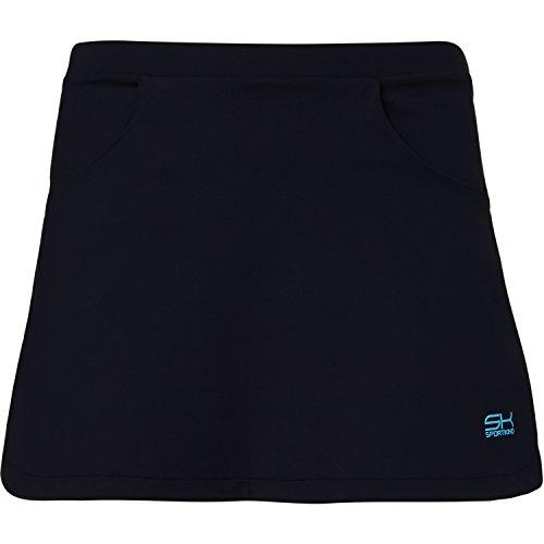 Sportkind Mädchen & Damen Tennis / Hockey / Golf Classic Rock mit Taschen & Innenhose, schwarz, Gr. L (Shorts Tennis Classic)