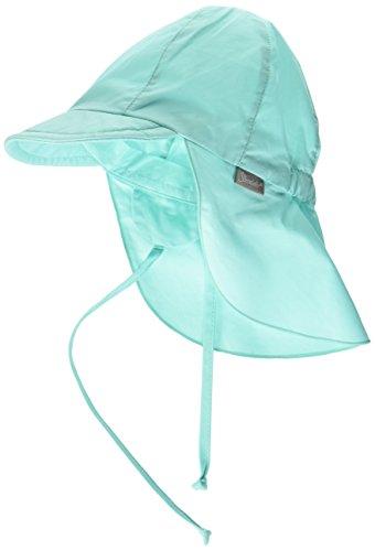 Sterntaler Unisex Schirmmütze mit Nackenschutz und Bindebändern, Alter: 6-9 Monate, Größe: 45, Grün (Mint)