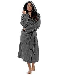 Robe De Dames Luxury Serviette Éponge 100% Coton Peignoir Robe De Chambre Perfect Cadeau Noël