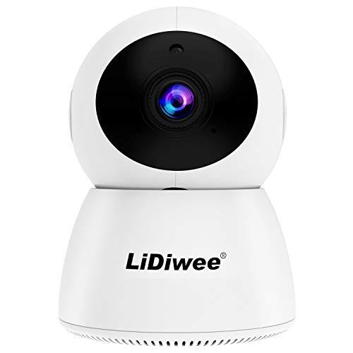 LIDIWEE Funk Überwachungskamera Innen WLAN, 1080p HD Smart Cloud IP-Kamera Babyphone Videoüberwachungssystem Nachtsicht PTZ, Sicherheitskamera mit Bewegungsmelder und Speichererweiterung - Weiß (Security Samsung Video Systeme)