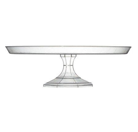 Platter Pleasers Elegante soporte de plástico sólido transparente para tartas y cupcakes – 25 cm