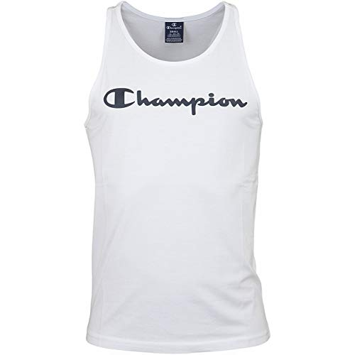 Champion Logo Tank (S, White) -