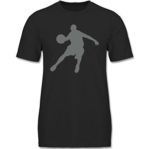 Sport Kind - Basketballspieler - 152-164 (12-14 Jahre) - Schwarz - F140K - Jungen T-Shirt