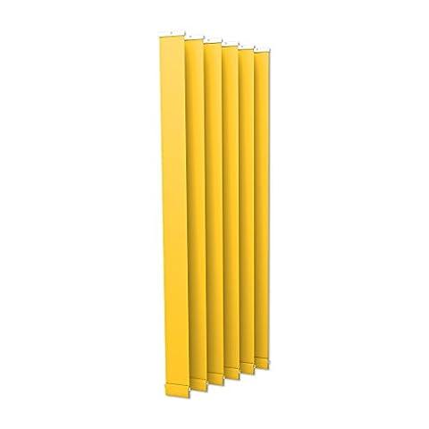 VICTORIA M Store à lamelles, store vénétien vertical Isabella - I-forme, légèrement translucide - 8,9 x 250cm, jaune | Set de 6 unités