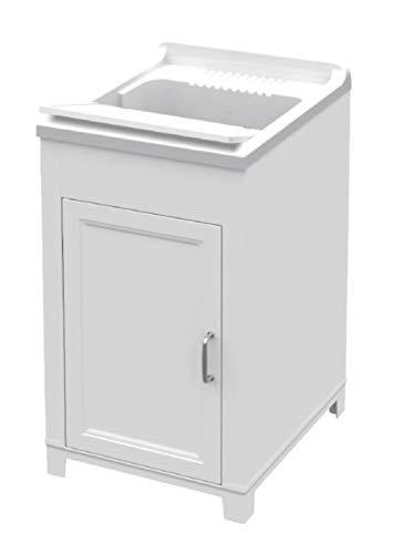 Adventa - Lavadero de Resina para Interior y Exterior, 45 x 50 x 85 cm, Color Blanco