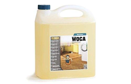 3 Liter WOCA Holzbodenseife NATUR + 1 Baumwollüberzug für 40cm Wisch-Mop, Marke: Baumarkt-konkret
