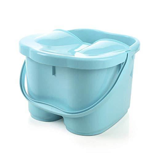 QWZYP Fußbad- / Bademassagegerät mit Wärmeblasen-Vibration , Funktion, Massagerollen Pediküre Müde Füße Stressabbau Hilft beim Schlafen zu Hause