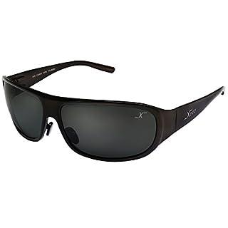 Xezo UV 400/Base Curve 8, solide Titan Polarisierte Herren Sonnenbrille mit Schwarz Objektiv, Kaffee Metallic-Finish, 1,7oz groß