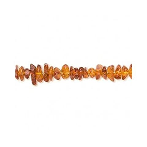 Strand Of 115+ Golden/Brown Baltic Amber 4-6mm Chip Beads -