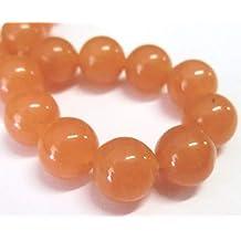 Aventurin 8mm orange Perlen rund Schmuckperlen Edelstein 1 Strang