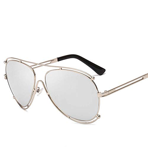 FIRM-CASE Neue Art und Weise klassische Sonnenbrille Retro- Frauen-Doppel-rundes Metall großen Feld-Gläser Photochromic Brillen, 2