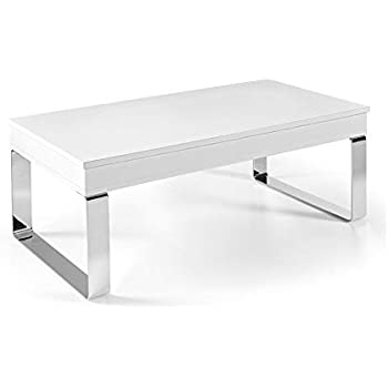 Venditadimobilionline TAVOLINO ALZABILE LUGA Bianco Bianco