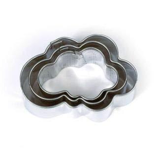 3 mini cortadores de galletas - Nubes