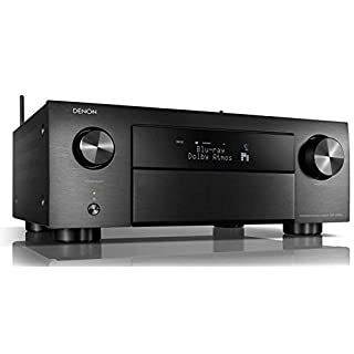 Denon AVRX4500HBKE2 9.2 Premium AV-Receiver (Alexa kompartibel, HEOS Integration, Dolby Vision Komtabilität, dtsX, WLAN, Bluetooth, Amazon Music, Spotify Connect, HDMI Eingänge,9X 200 W) schwarz