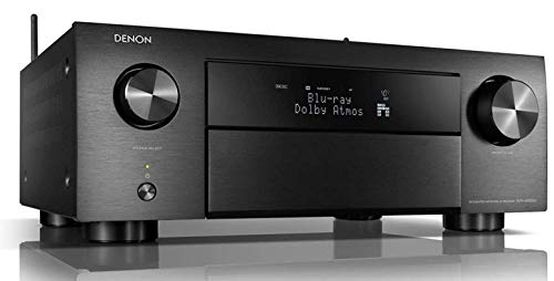 Denon AVRX4500HBKE2 9.2 Premium AV-Receiver (Alexa kompartibel, HEOS Integration, Dolby Vision Komtabilität, dtsX, WLAN, Bluetooth, Amazon Music, Spotify Connect, HDMI Eingänge,9X 200 W) schwarz (Apple Remote Control-fall Tv)