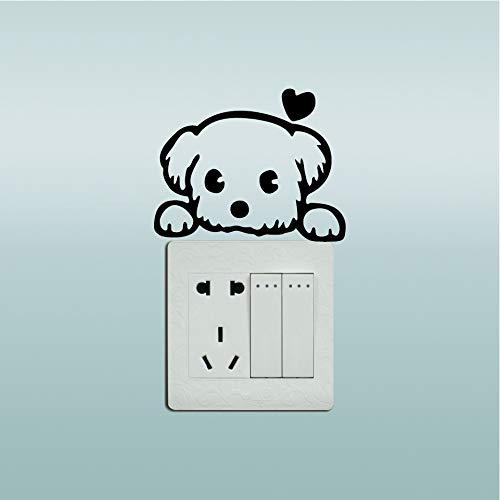 5 lindas pegatinas de pared para perros interruptores de luz pegatinas de...