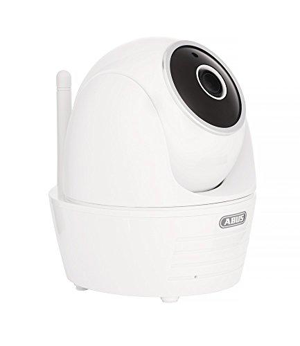 ABUS Innenkamera PPIC32020 mit Schwenk und Neigefunktion | Full HD 1080p | Infrarot Nachtsichtfunktion | mobiler Zugriff via App | weiß | 79650