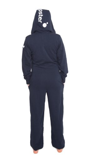Jumpster Damen und Herren Jumpsuit Langer Overall Second G. Slim Fit Deepest Blue Blau S - 2