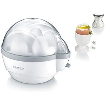 Severin EK 3051 Eierkocher (400 W, 1-6 Eier) weiß