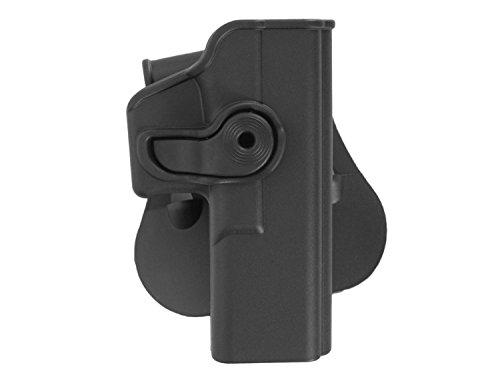 IMI Roto Paddle Hartschalen- Holster für Glock 17, inkl. Gürteladapter - schwarz (rechts) (G17 Glock)