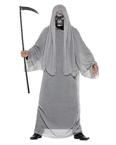 Horror-Shop Grim Reaper Kostüm mit Halbmaske M/L (Für Erwachsene Grave Reaper Kostüm)