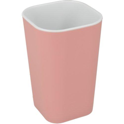 Metaltex 401024145 Gobelet à Brosse à dent, Plastique, Rose/Blanc, 7,5 x 7,5 x 11 cm