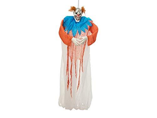 EUROPALMS Halloween Figur Lachender Clown | Kostengünstige Dekoration für ihre Halloween-Party | Arme formbar | Höhe 170 cm