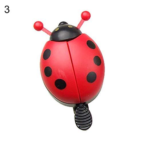 CricTeQleap Fahrradzubeh?r, Ladybird Shape Safety Horn Fahrrad Radfahren Reiten Lenker Alarmglocke - Rot