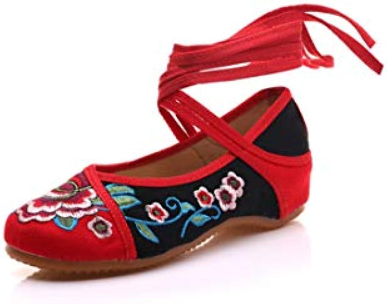 Bordado Zapatos/Alpargatas/ Merceditas/Zapatos Bordados, Zapatos, Zapatos de Baile, Lino y Zapatos de Res