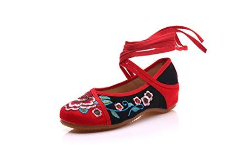 Espadrilles/Brautschmuck Schuhe/Bestickt, Schuhe, Schuhe, Schuhe, bettwäsche und rindfleisch,schwarz,42 - Bettwäsche Patch