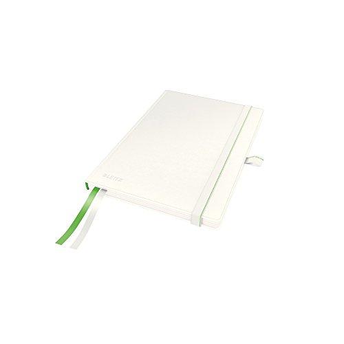Leitz Taccuino A5 con copertina rigida, 80 fogli, A quadretti, 2 segnapagina, Carta avorio 100 gr/mq, Bianco, Complete, 44770001