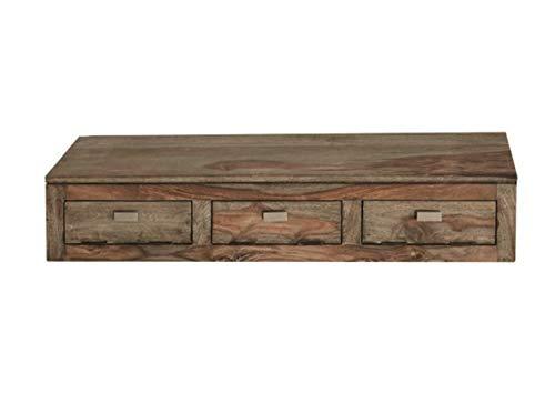 MASSIVMOEBEL24.DE Palisander Massivholz Wandelement Sheesham Holz Möbel Nature Grey #068