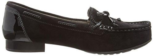 Gabor Octavia Damen Mokassin Black (Black Suede/Patent Heel Counter)